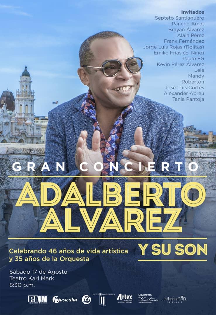 Elenco de lujo festejará junto a Adalberto Álvarez y su Son